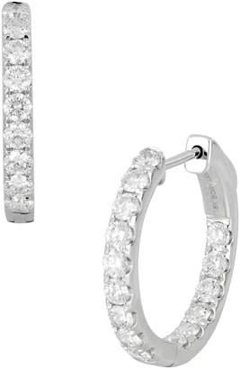 Bony Levy Diamond Hoop Earrings