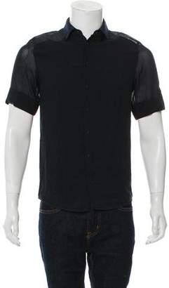 3.1 Phillip Lim Short Sleeve Button-Up Shirt