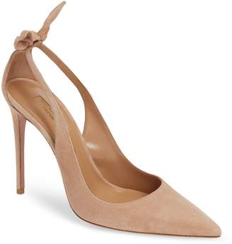Aquazzura (アクアズーラ) - AQUAZZURA Deneuve Bow Pointy Toe Pump