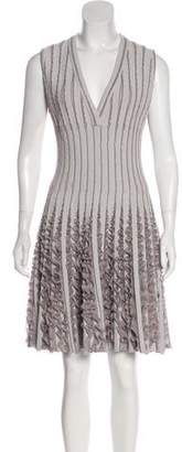 Alaia Fit & Flare Ruffle-Trimmed Dress