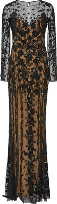 ZUHAIR MURAD Tiare Embroidered Tulle Gown