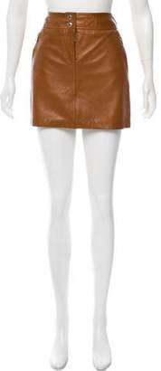 Michael Kors Leather Mini Skirt