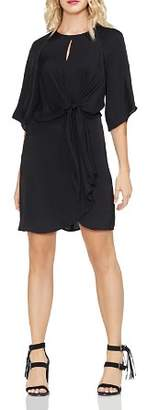 Vince Camuto Draped-Sleeve Belted Dress