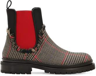 L'Autre Chose 20mm Wool Price Of Wales Chelsea Boots