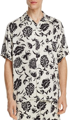 Junya Watanabe Floral Slim Fit Button-Down Shirt $401 thestylecure.com
