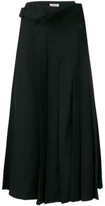 Yohji Yamamoto draped pleated skirt