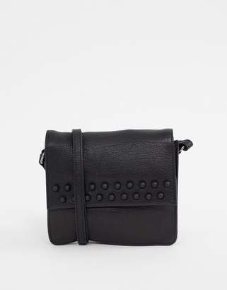 Urban Code Urbancode leather cross body bag with small stud detail d8526523c31f4