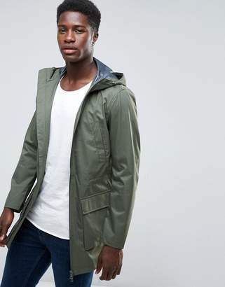 Benetton Lightweight Packaway Parka In Khaki