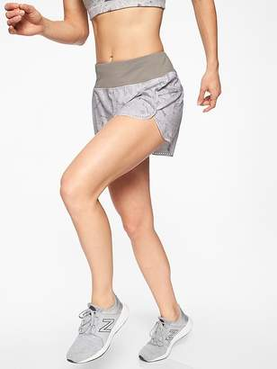 Athleta Print Laser Run Short 4""