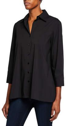 271547f348d Finley Plus Size Button-Down 3/4-Sleeve Trapeze Shirt