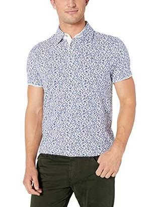 Calvin Klein Men's Short Sleeve Printed Floral Polo Shirt