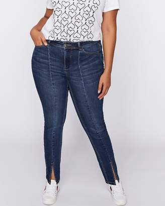Skinny Jean with Slits at Front Seam - L&L