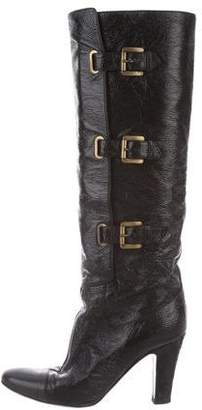 Stella McCartney Buckle Knee-High Boots