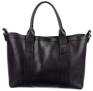 Lotuff Leather Grained Leather Satchel