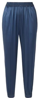 Fleur Du Mal Silk-satin Track Pants - Blue