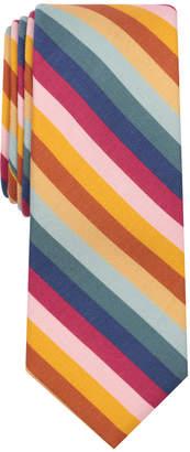Bar III Men's Signature Stripe Skinny Tie, Created for Macy's