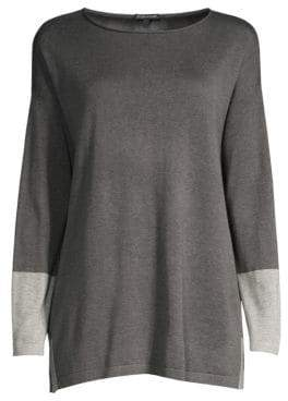 Eileen Fisher Colorblock Knit Tunic