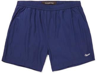 Wide-Leg Mid-Length Swim Shorts