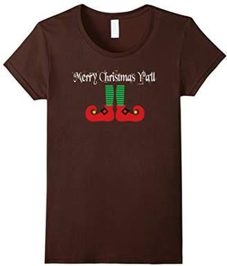 Plus Size t-shirts Christmas Ya'll Elf T-Shirt Tee TShirt