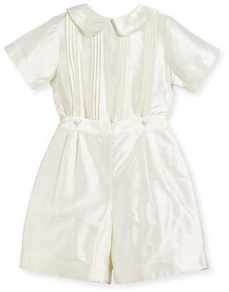 Isabel Garreton Boys' Sebastian Two-Piece Silk Ring Bearer Set, Ivory, Size 2-4