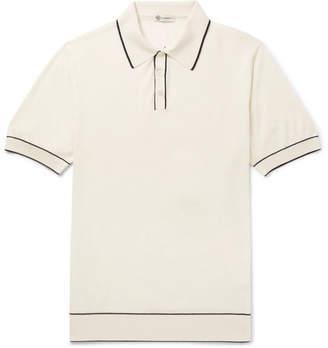Connolly Tazio Contrast-Tipped Merino Wool Polo Shirt