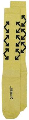 Off-White logo intarsia socks
