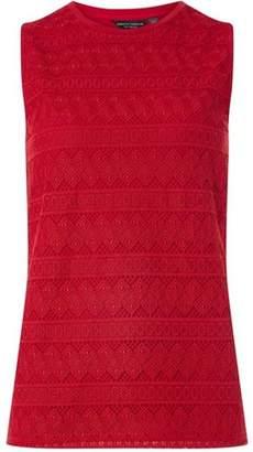 Dorothy Perkins Womens **Tall Raspbery Geometric Lace Shell Top