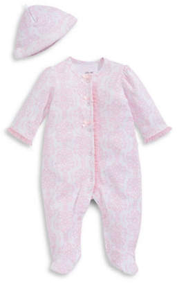 Little Me Damask Footie Sleeper with Hat