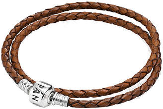 Pandora Brown Woven Leather Bracelet