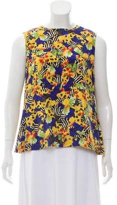 Mother of Pearl Silk Sleeveless Top