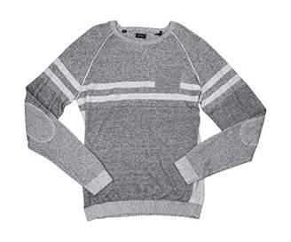 Buffalo David Bitton Men's Watextur Long Sleeve Crew Neck Fashion Sweater
