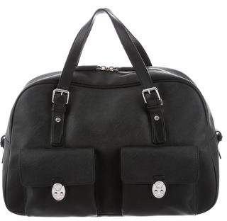 Tumi Leather-Trimmed Dome Satchel