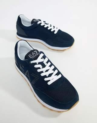 EA7 Heritage Runner Sneakers In Navy