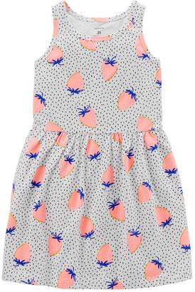 Carter's Sleeveless Dots A-Line Dress - Toddler Girls