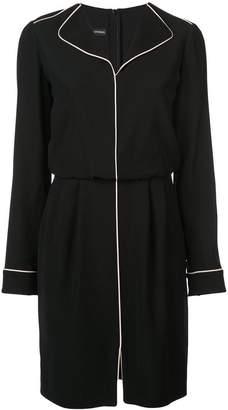 Emporio Armani piped trim shirt dress
