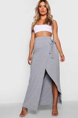 boohoo Plus Wrap Maxi Skirt