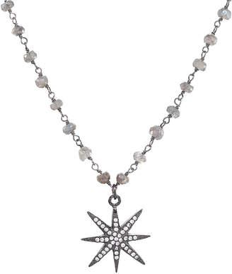 Rachel Reinhardt Plated Silver Labradorite & Crystal Star Necklace
