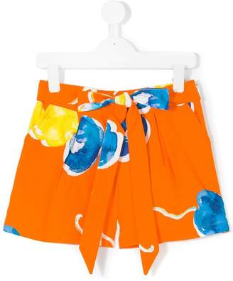 MSGM printed belted shorts