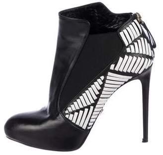 Daniele Michetti Leather Ankle Boots
