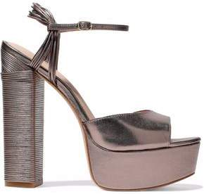 Rachel Zoe Willow Metallic Leather Platform Sandals