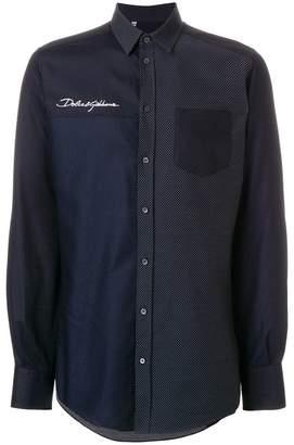 Dolce & Gabbana polka dot panelled shirt