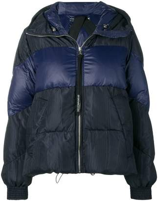 Sportmax Code hooded feather down jacket