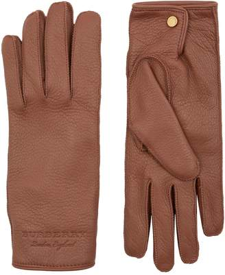 Burberry Cashmere Lined Leather Gloves