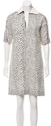 Bouchra Jarrar Short Sleeve Zip-Accented Dress