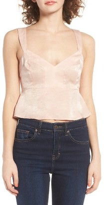 Women's Leith Satin Crop Tank $49 thestylecure.com
