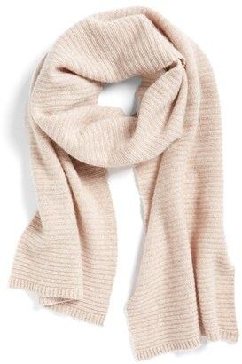Women's Halogen Ribbed Cashmere Muffler $99 thestylecure.com