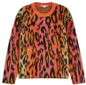Stella McCartney Leopard Mohair-blend Jumper