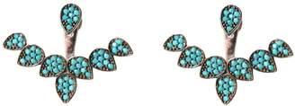 Wild Hearts Turquoise Petal Ear Jackets