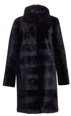 Norman Ambrose Sheared Mink& Sable Fur Coat