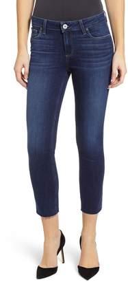 Paige Transcend Vintage - Skyline Raw Hem Crop Skinny Jeans